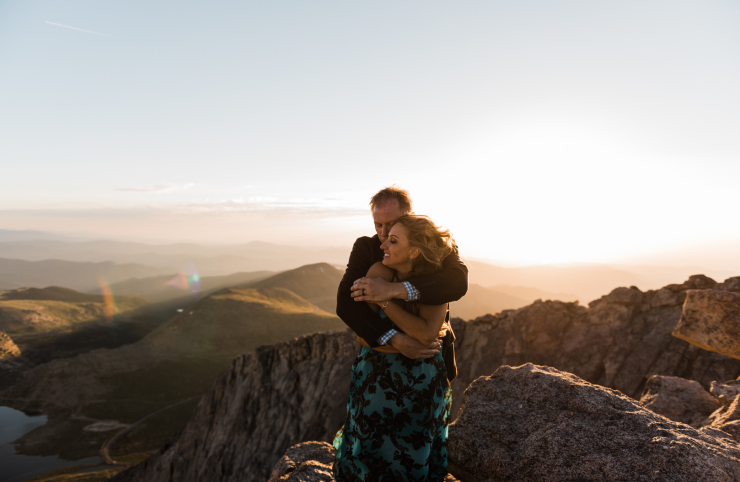Dawn & Kevin's Stunning Mt. Evans Sunrise Ceremony