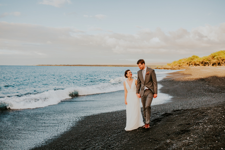 Amanda and Marc's Romantic Sunset Hawaii Elopement