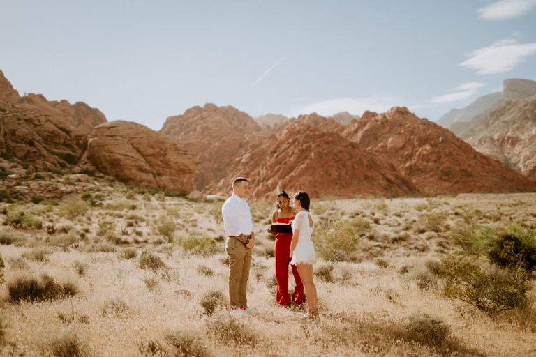 Megan and Keith's Laid-Back Las Vegas Elopement