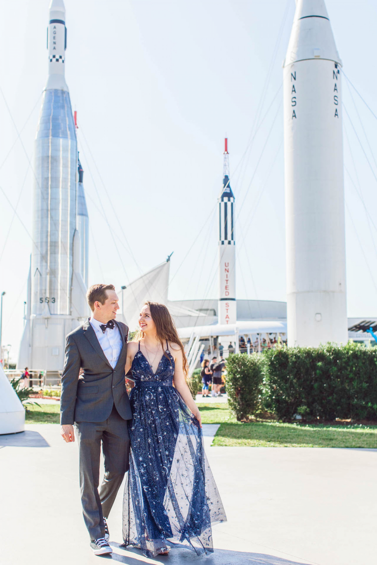 Emily and Chadd's Cosmic Orlando Elopement at Kennedy Space Center