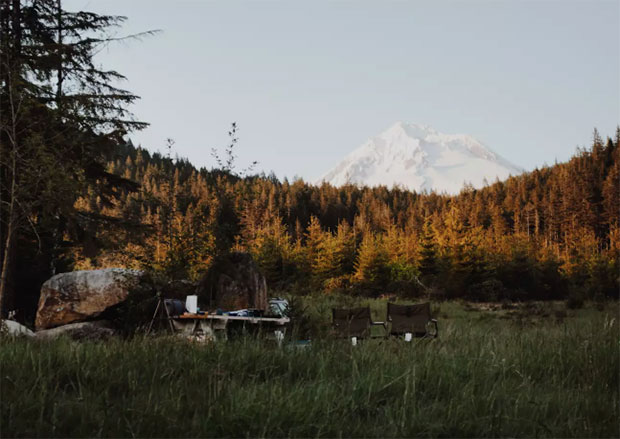 Private meadow with Mount Hood views