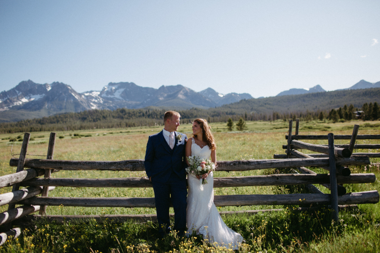 Nichole & Andrew's Intimate Idaho Wedding at Redfish Lake