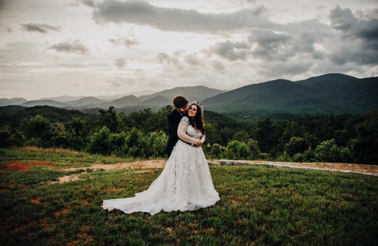 Kayla and Austin's Dreamy Asheville Mountain Ceremony