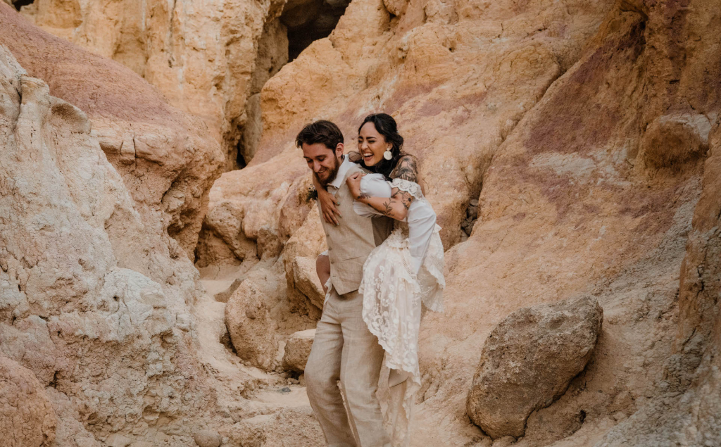 Cassandria & Rich's Colorado Wedding at the Paint Mines