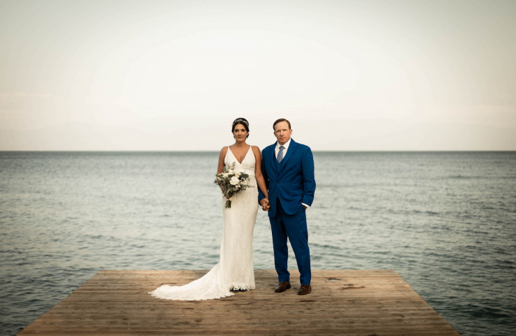 Lindsay and Andrew's Meaningful Lake Tahoe Ceremony