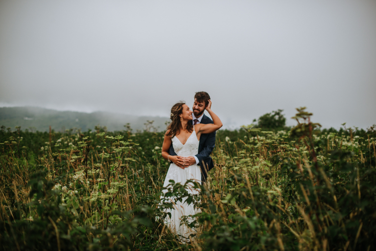 Eloping in Asheville: Sarah and Bret's Foggy Black Balsam Knob Elopement