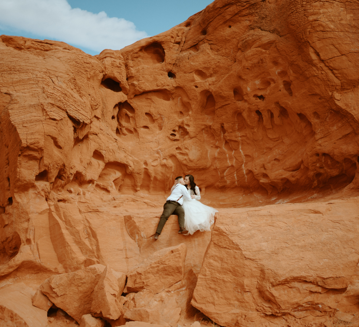 Dakota & Emily's Intimate Valley of Fire Las Vegas Elopement