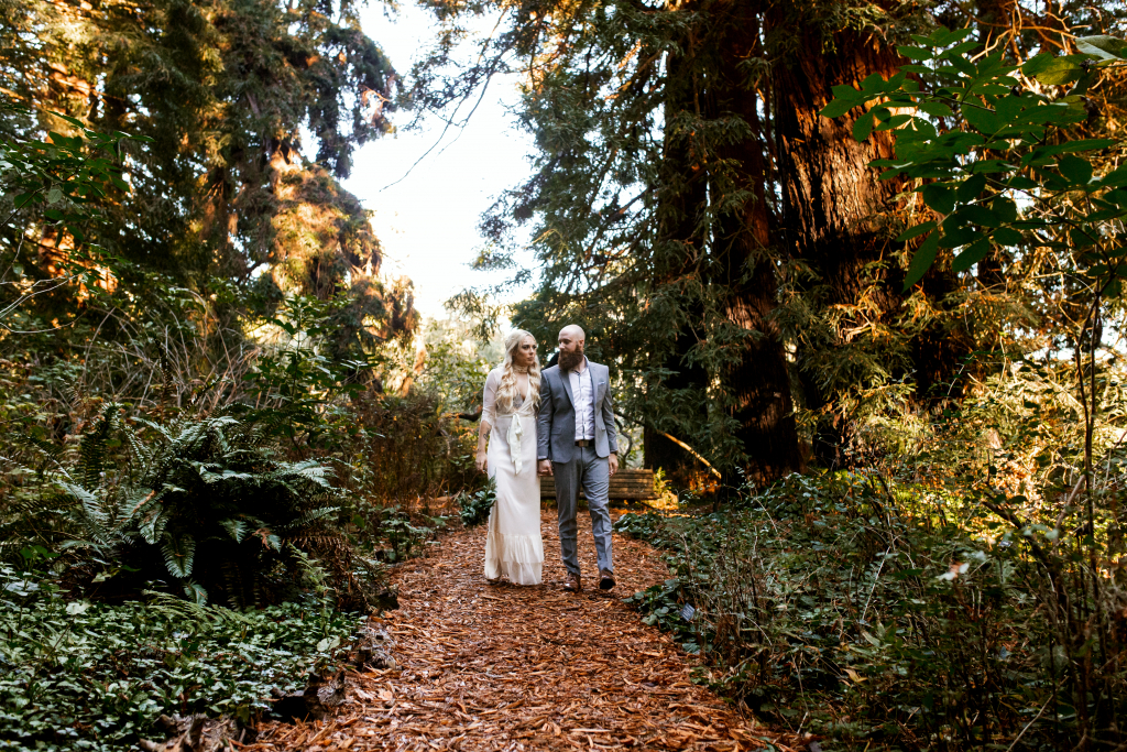 Sam and Seamus's Bohemian Chic Elopement at San Francisco Botanical Garden