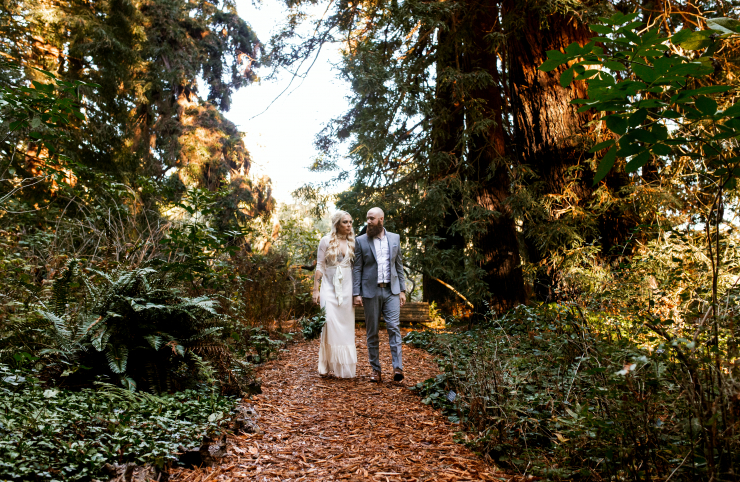 Sam and Seamus's Bohemian Chic Elopement at San Francisco Botanical Garden