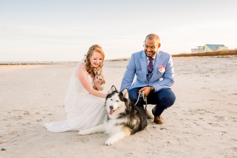 Caran & Jesus's Sweet St Augustine Ceremony with Fur Babies and Family