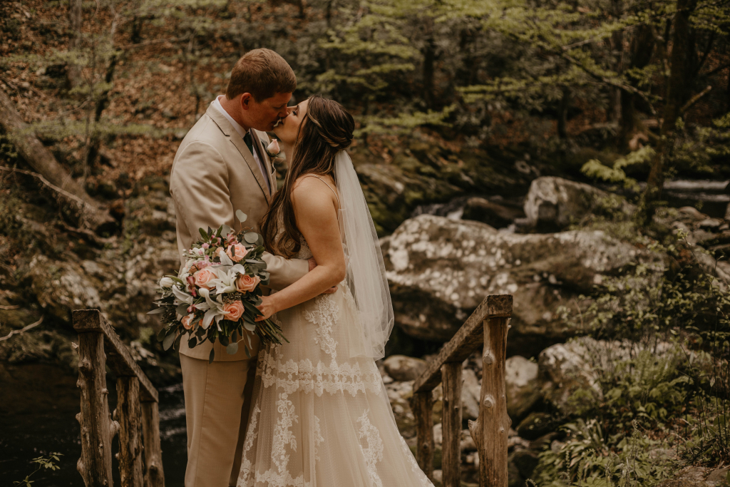 Josie and Jake's Historic Elopement in Gatlinburg at Ely's Mill