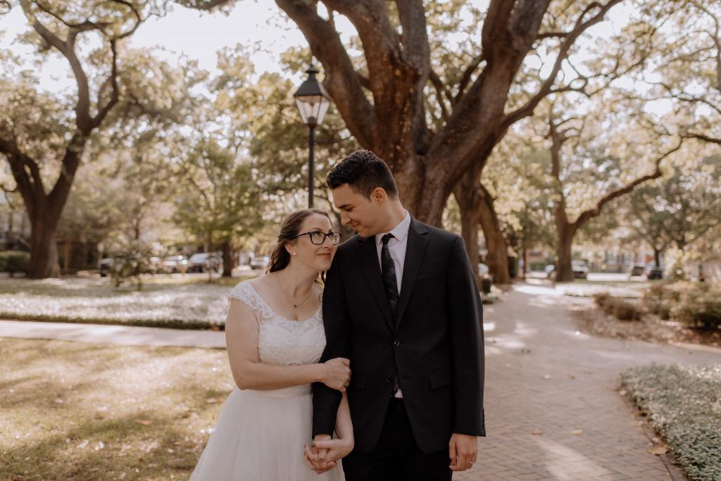 Natasha & Dinko's Intimate Pulaski Square Elopement in Savannah