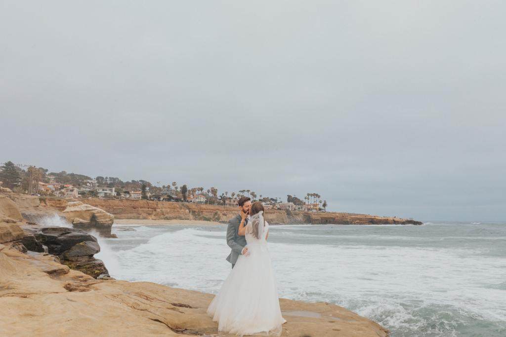 Lori & Jonathan's Loving Sunset Cliffs Elopement in San Diego